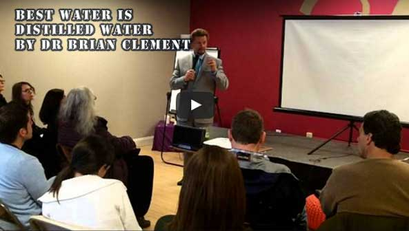 Dr. Brian Clement about distiller water