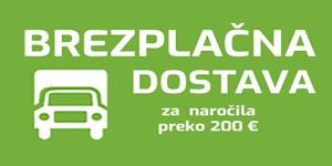 brezplačna dostava za naročila v skupni višini več kot 200 €